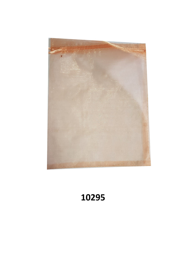 Plain peach organza bag 23 cm x 16.5 cm (20 pcs)