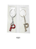 "Alphabet ""P"" , In Colours Red And Silver"