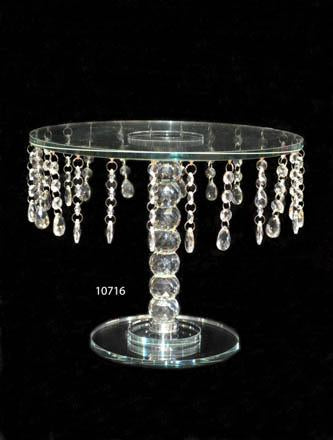 Cake Stand : Crystal Round Cake Stand Large Size - 10716