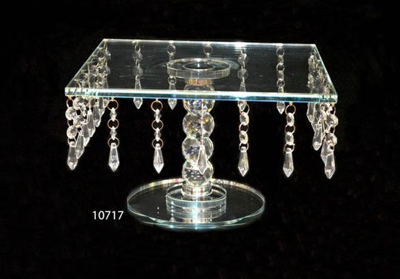 Cake Stand : Crystal Square Cake Stand Large Size - 10717