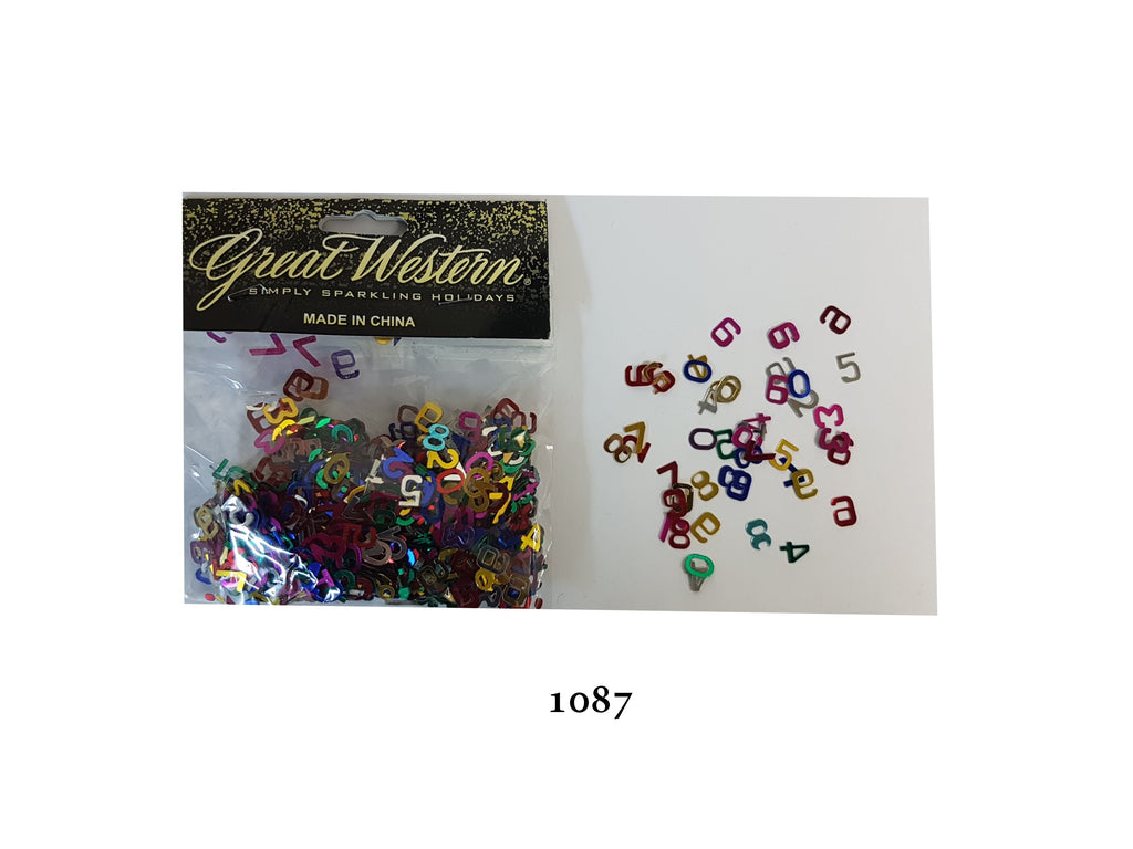 Numbers shaped Confetti - 1087