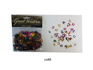 """Alphabet "" shaped confetti - 1088"