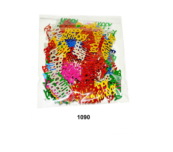 """Happy Bithday"" shaped Confetti - 1090"