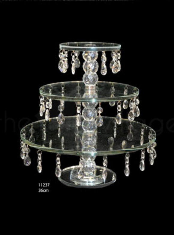 3 Tiers Crystal Cupcake Stand Height 36cm - 11247
