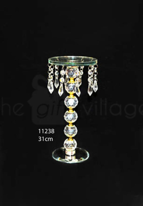 Cake Stand : Crystal Single Cake Stand 31cm - 11238