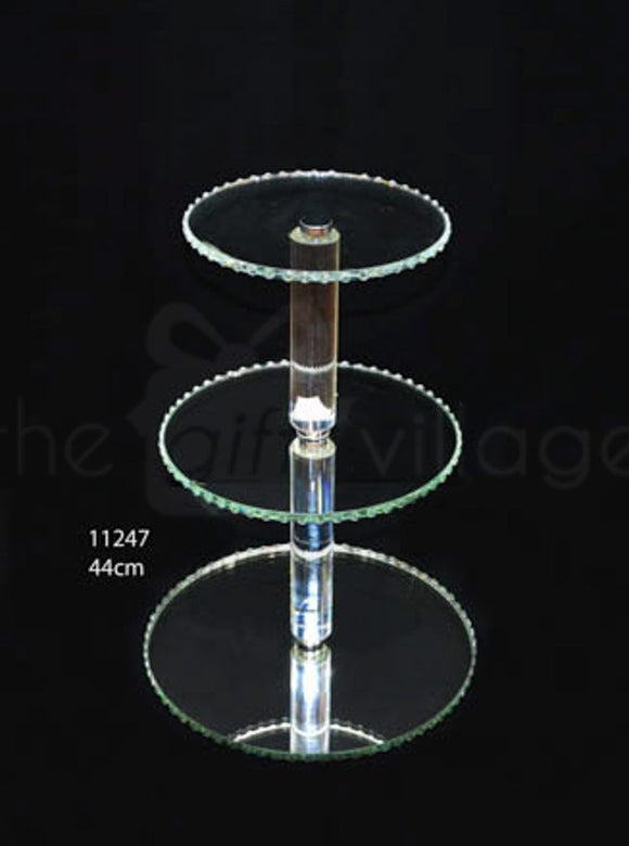 3 Tiers Crystal Cupcake Stand Height 44cm - 11247