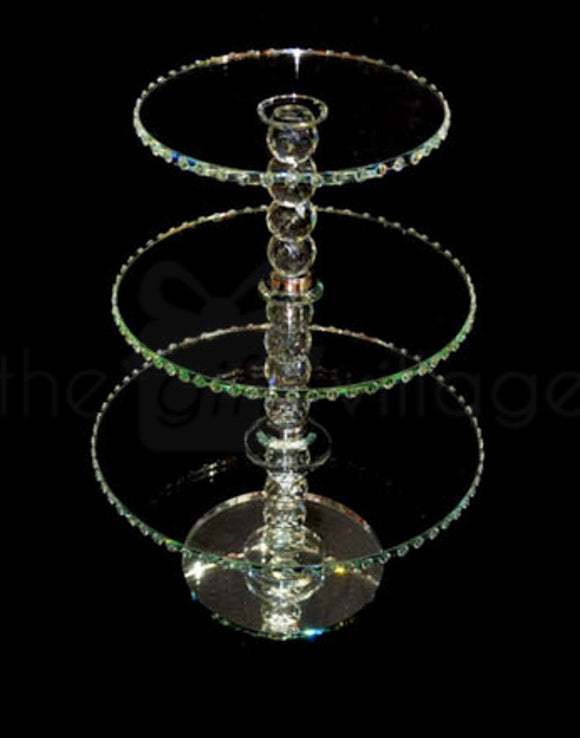 3 Tiers Crystal Cupcake Stand - 11248