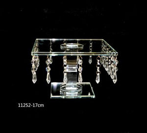 Cake Stand B : Crystal Square Shape Height 17cm - 11252