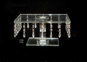 Cake Stand A : Crystal Square Shape Height 17cm - 11255