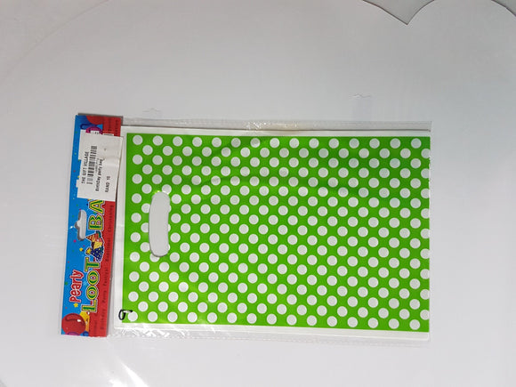 Loot Bag Design: Green Dotted The Gift Village Collection