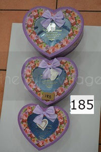 Gift Box: Purple Three-piece set Heart Window style- 185