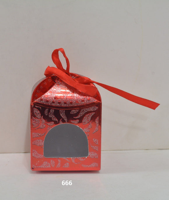 Ribbon heart boxes: Red small (5pc/pack) - 667R