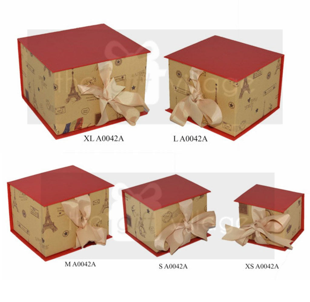Gift Box: Eiffel Style Five-piece sets  Square shape- A0042A