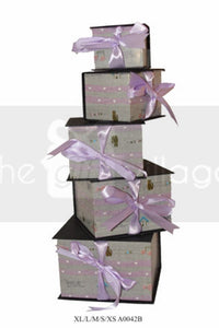 Gift Box: Purple & Black  Five-piece sets  Square shape - A0042B