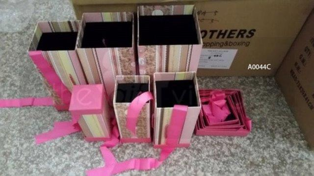Gift Box: Pink wallpaper Six-piece sets Rectangle shape - A0044C