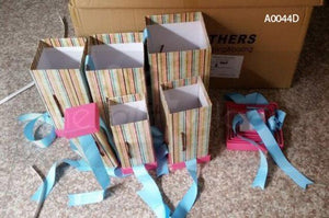Gift Box: Pink & Blue Six-piece sets  Rectangle shape- A0044D