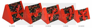 Gift Box: Red Four-piece set Purse style- A0045B(4)