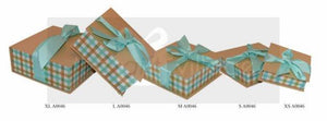 Gift Box: Blue & Beige Four-piece sets Square shape - A0046