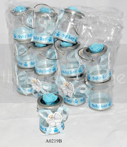 Blue Buckets for boys  Buckets: 12 pcs/pack   Item number: A0219B