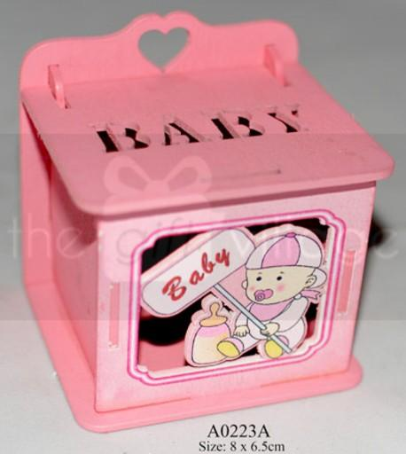 Pink Wooden box for girls  Boxes: 6 pcs/ pack  Item number: A0224A