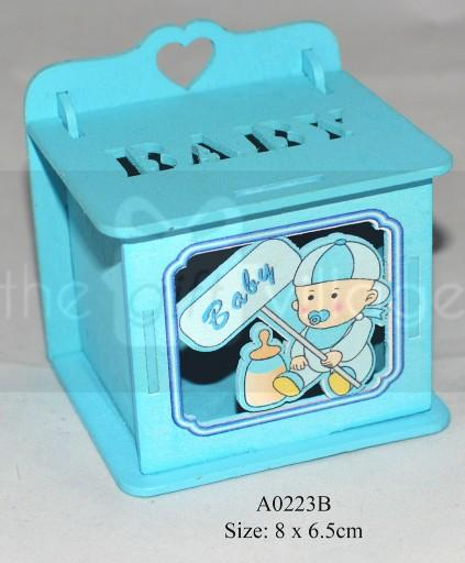 Blue Wooden box for boys  Boxes: 6 pcs/ pack  Item number: A0223B