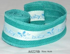 Blue ribbon for boys  Length: 2 meters  Item number: A0225B