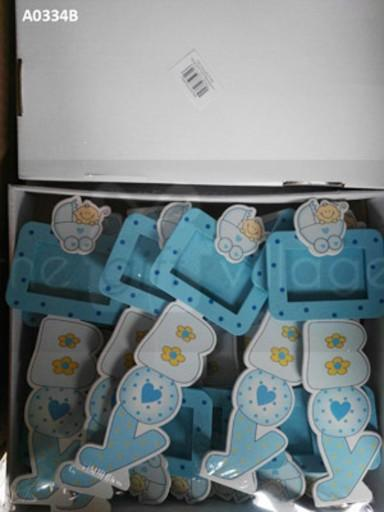 Blue table stands for boys  Stands: 12 pcs/pack  Item number: A0334B