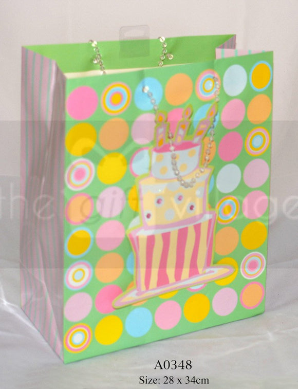Spring Cake Medium: LGreen Gift Bags Collection By The Gift Village South Africa