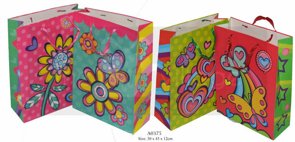 Butterfly & Flowers Large Gift Bags Collection By The Gift Village South Africa