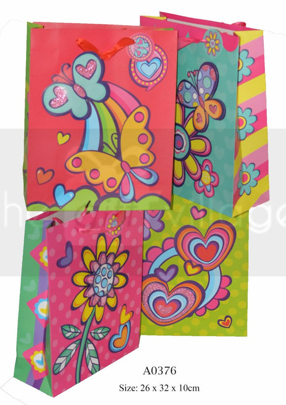 Butterfly & Flowers Medium Gift Bags Collection By The Gift Village South Africa