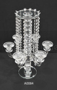 Candle Center Piece : Crystal 6 Candle & Flower holder - A0084