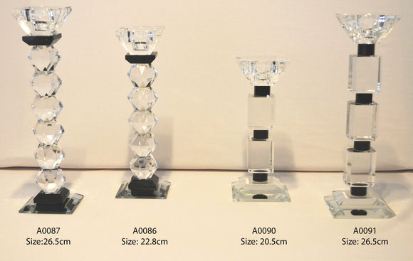 Candle Stand : Transparent Stand 1 Arms/Holders Height  22.8cm - A0086