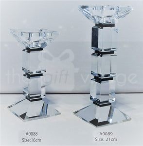Candle Stand : Transparent Stand 1 Arms/Holders Height 16cm - A0088