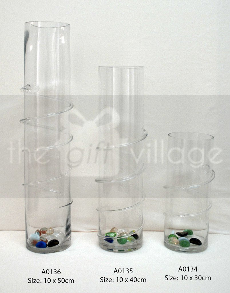 Collection Vase Cylinder twist - A0136 By The Gift Village South Africa