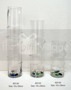 Collection Vase Cylinder twist - A0135 By The Gift Village South Africa