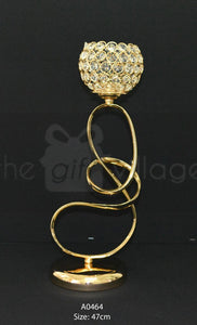 Gold Candle Holder Centerpiece For Decoration 47cm - A0464