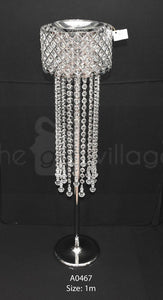Grand Silver Flower Stand For Decoration 100cm - A0467
