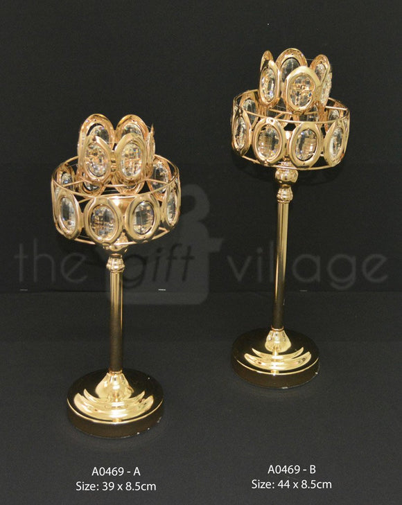 Centerpiece For Decoration in Gold : Height 39cm - A0469gs