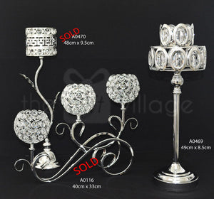 Centerpiece For Decoration in Silver : Height 43cm - A0470sm