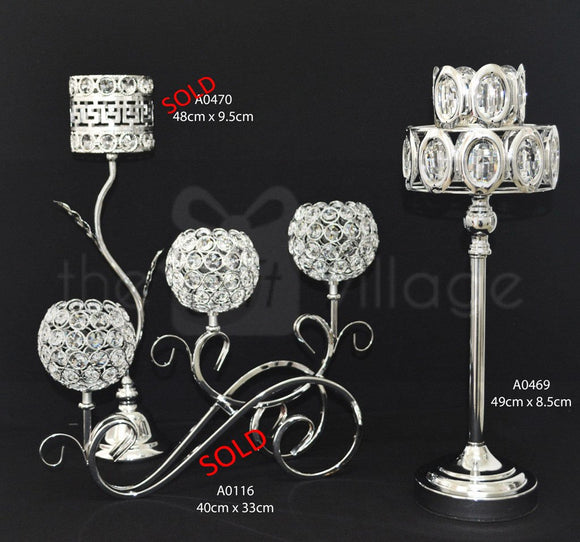 Centerpiece For Decoration in Silver : Height 38cm - A0470ss