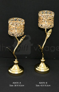 Centerpiece For Decoration in Gold : Height 43cm - A0470gm