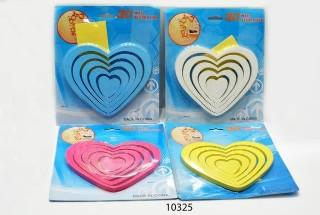 Assorted Colour Heart Wall Art - 10325 From The Gift Village South Africa