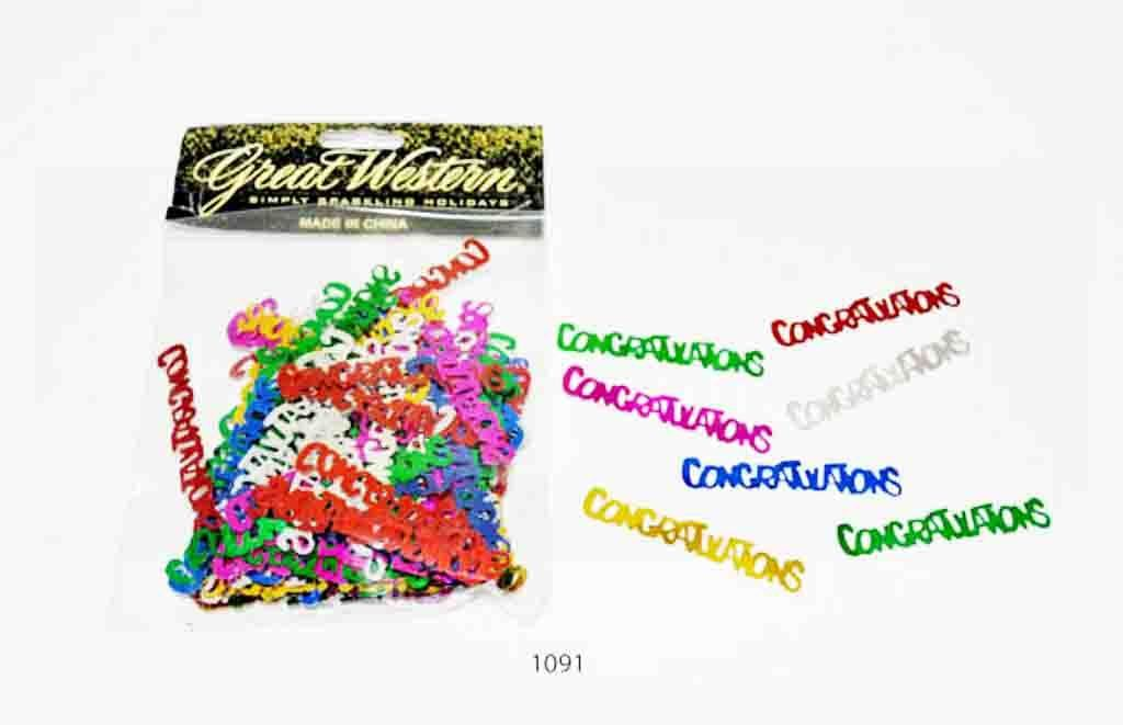 """Congratulations "" shaped confetti - 1091"
