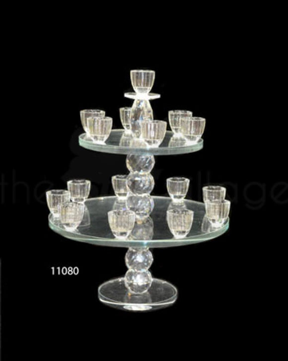 2 Tiers Candle Stand 16 Arms Holders - 11080