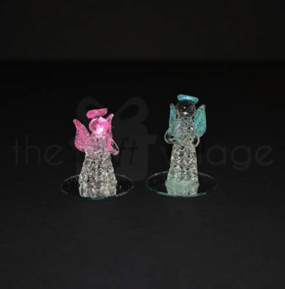 Crystal Baby Shower : Baby Angle 4cm in Pink & Blue - 11213