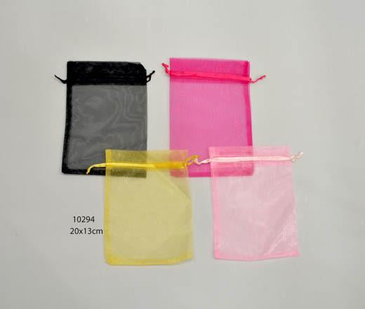 Plain yellow organza bag 20 cm x 13 cm (20 pcs)