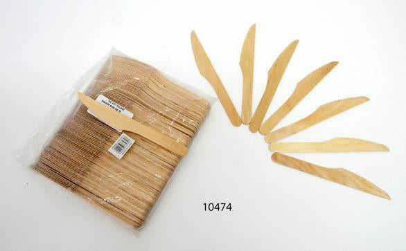 Wood Knife 100 Pcs- 10474 By The Gift Village South Africa