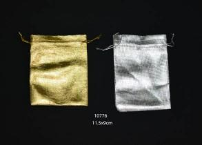 Plain gold organza bag 11.5cm (l) x 9cm (w) (20 pcs)