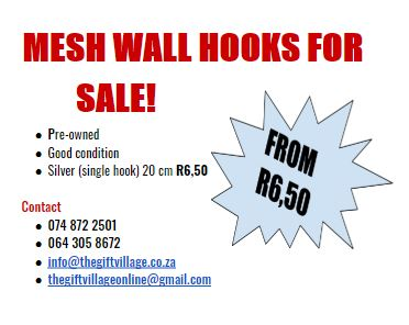 MESH WALL HOOKS FOR SALE!