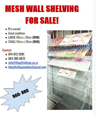 MESH WALL SHELVING FOR SALE!
